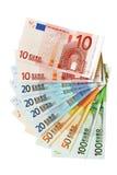 banknotów euro pieniądze obrazy stock