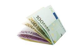 banknotów euro pieniądze zdjęcia stock