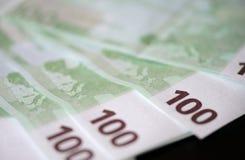 banknotów euro sto jeden Zdjęcie Royalty Free