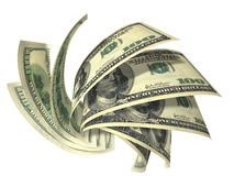 banknotów składu dolary dynamiczni kilka Obraz Stock