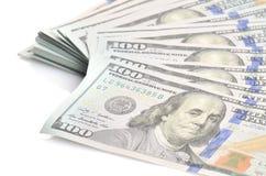 Banknotów tło sto dolarów Obraz Stock