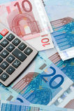 banknotów waluty europejczyk Obraz Royalty Free