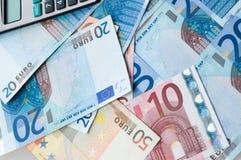 banknotów waluty europejczyk Fotografia Royalty Free