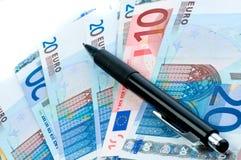 banknotów waluty europejczyk Obraz Stock