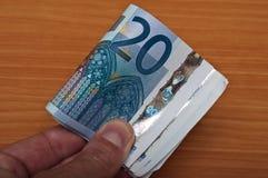 Banknot av tjugo euro Arkivfoto