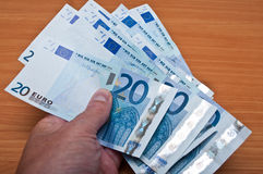 Banknot de vinte euro Imagem de Stock Royalty Free