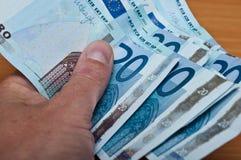 Banknot di venti euro Fotografia Stock Libera da Diritti