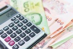 Banknot i kalkulator Obrazy Stock
