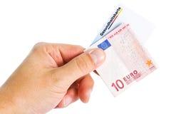 Banknot i zdrowie elektroniczna karta Zdjęcia Royalty Free