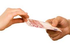 banknot ręki Zdjęcie Stock
