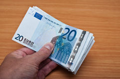 Banknot of twenty euros Stock Images