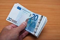 Banknot van twintig euro Stock Afbeeldingen