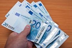 Banknot von zwanzig Euros Lizenzfreies Stockbild