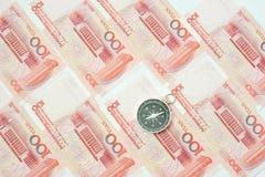 banknot waluta porcelanowa chińska zauważa s Juan Obrazy Royalty Free