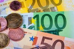 banknot waluty euro konceptualny 55 10 Obraz Stock