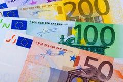 banknot waluty euro konceptualny 55 10 Zdjęcia Royalty Free