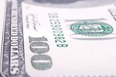 Banknote of 100 dollars Royalty Free Stock Photography