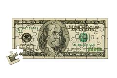Banknote 100 dollars puzzle Stock Image