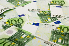 Banknote 100 euro. The background of European banknote 100 euro Royalty Free Stock Image