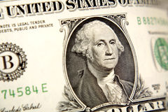 One Dollar Bill With Smiling George Washington Stock Image