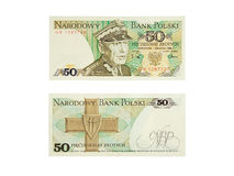 Banknote 50zl Stock Photo