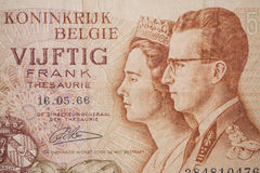Banknote from Belgium Royalty Free Stock Photo