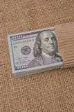 Banknote bundle of US dollar Royalty Free Stock Photos