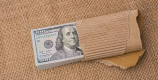 Banknote bundle of US dollar Royalty Free Stock Photography