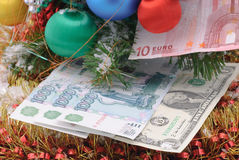 Banknote and  christmas Royalty Free Stock Image