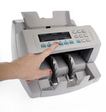 Banknote counter. Isolated on a white background rn royalty free stock photos