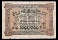 Banknote der Weimar-Republik. 1923. Gegenstücck. Lizenzfreie Stockbilder