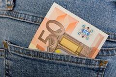 Banknote des Euro 50 Lizenzfreie Stockfotografie