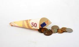 Banknote des Euro 50 Lizenzfreies Stockfoto