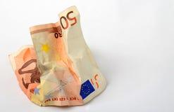 Banknote des Euro 50 Stockbild