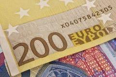Banknote des Euro 200 Stockbild