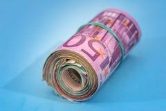 Banknote des Euros 500 lokalisiert Stockfotografie
