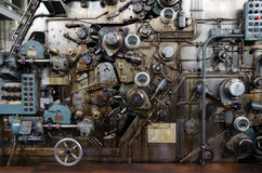 Banknote Equipment Manufacturers. Rusty Mechanism of Banknote Equipment Manufacturers Stock Image