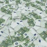 Banknote-Euro einen Hintergrund bildend Stockfotos