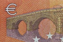Banknote with Euro symbol closeup Royalty Free Stock Photo