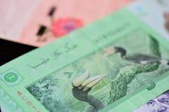 Banknote of five Malaysian ringgits Royalty Free Stock Photo
