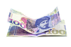 Banknote 100 GELATIEREN Georgia, lokalisiert, Finanzierung Stockfotos