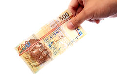 Banknote in hand Royalty Free Stock Photos