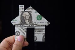 Banknote house icon Stock Image