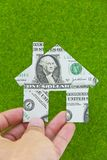 Banknote house icon concept Stock Photo