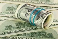 Banknote hundred dollars Stock Photos