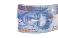Banknote hundred Swiss Francs Stock Photos