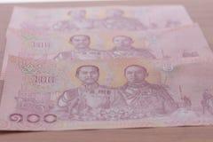 Banknote Hundred Thai Baht.  Stock Photos