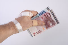 The banknote injury Royalty Free Stock Photo
