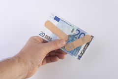 The banknote injury Royalty Free Stock Image