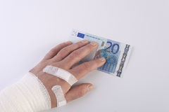 The banknote injury Royalty Free Stock Images